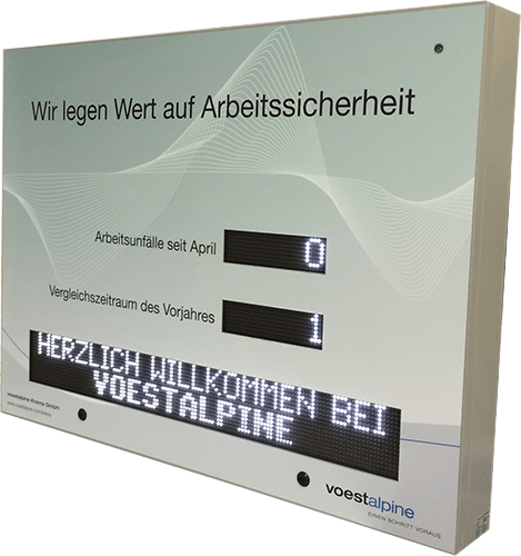 LED Industriedisplay von WIPAmedia
